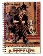 Australian Kelpie - A Dogs Life Movie Poster Spiral Notebook