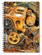 Auto Engine Block From A Wrecked Car Spiral Notebook