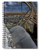 Auto Interior Of Abandoned Vehicle Spiral Notebook