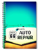 Auto Repair Sign On Route 66 Spiral Notebook