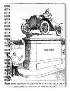 Automobile Cartoon, 1914 Spiral Notebook