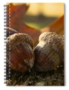 Autumn Acorns Spiral Notebook