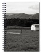 Autumn Barn In Green Bank Wv Bw Spiral Notebook