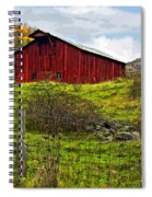 Autumn Barn Painted Spiral Notebook