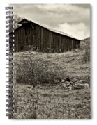 Autumn Barn Sepia Spiral Notebook