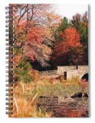 Autumn Bridge Spiral Notebook