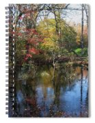 Autumn Colors On The Pond  Spiral Notebook