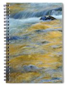 Autumn Colors Reflected In Stream Spiral Notebook
