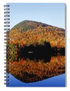 Autumn Colours Reflected In Water Spiral Notebook