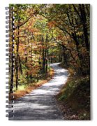 Autumn Country Lane Spiral Notebook