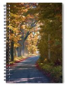 Autumn Country Road - Oil Spiral Notebook