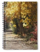 Autumn Dreams With Texture Spiral Notebook