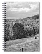 Autumn Farm 2 Monochrome Spiral Notebook