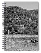 Autumn Farm Monochrome Spiral Notebook
