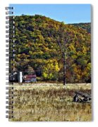 Autumn Farm Painted Spiral Notebook