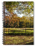 Autumn Field In Pennsylvania Spiral Notebook