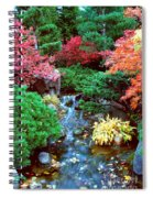 Autumn Garden Waterfall I Spiral Notebook