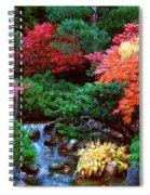 Autumn Garden Waterfall II Spiral Notebook