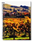Autumn In The Valley 2 - Digital Painting Spiral Notebook