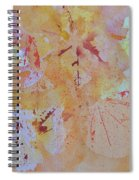 Autumn Leaf Splatter Spiral Notebook