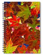 Autumn Leaves Collage Spiral Notebook