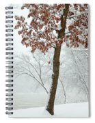 Autumn Leaves In Winter Snow Storm Spiral Notebook