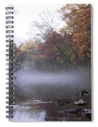 Autumn Morning On The Wissahickon Spiral Notebook