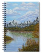 Autumn Mountains Lake Landscape Spiral Notebook
