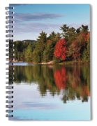 Autumn Nature Lake And Trees Spiral Notebook