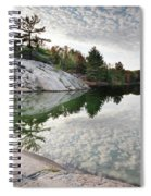 Autumn Nature Lake Rocks And Trees Spiral Notebook
