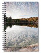 Autumn Nature Lake Rocks And Trees Panorama Spiral Notebook