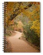 Autumn On Emerald Trail Spiral Notebook