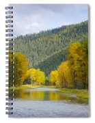 Autumn On The River Spiral Notebook