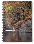 Autumn Pond Reflections Spiral Notebook