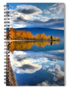 Autumn Reflections In October Spiral Notebook