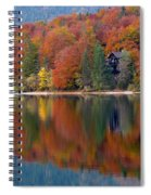 Autumn Reflections On Lake Bohinj In Slovenia Spiral Notebook