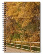 Autumn  Road To The Ranch Spiral Notebook