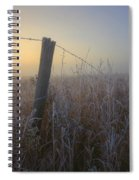 Autumn Sunrise Over Hoar Frost-covered Spiral Notebook
