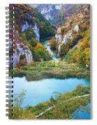 Autumn Valley Landscape Spiral Notebook