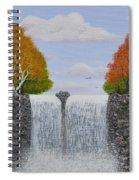 Autumn Waterfall Spiral Notebook