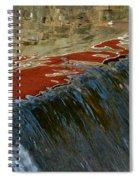 Autumn Waterfall Reflections Spiral Notebook