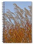 Autumn Wind Through The Grass Spiral Notebook