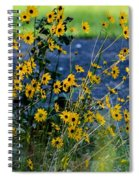 Autumn's Gold At The Lake Spiral Notebook