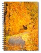 Autumn's Golden Corner Spiral Notebook