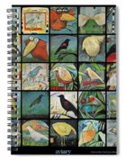 Aviary Poster Spiral Notebook