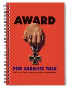 Award For Careless Talk - Ww2 Spiral Notebook