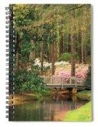 Azaleas And Footbridge Spiral Notebook