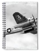 B25 In Flight Spiral Notebook