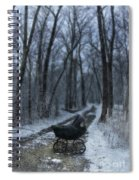 Baby Buggy On Creepy Path Spiral Notebook