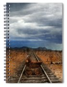 Baby Buggy On Railroad Tracks Spiral Notebook